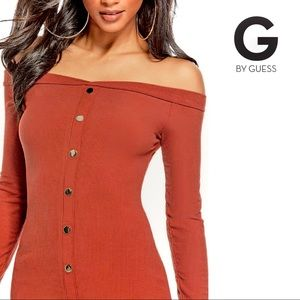 Guess - The Edit Off-The-Shoulder Dress